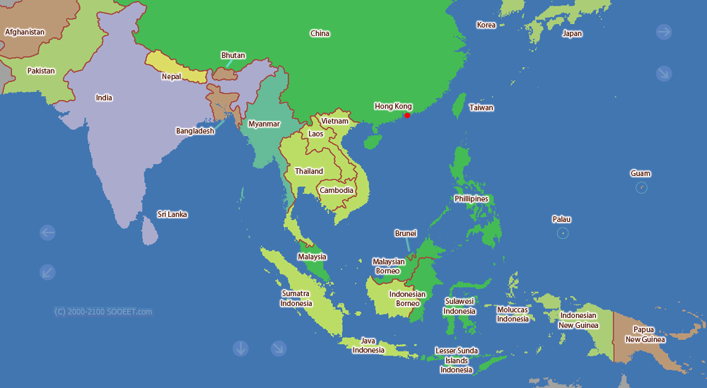Map Of Asia Time Zones.South Asia Time Zone Map