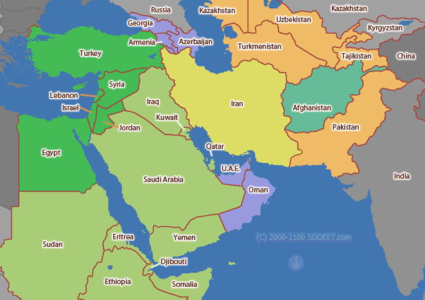 Middle east time zone map world time zones gumiabroncs Gallery